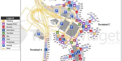Схема аэропорта бостон